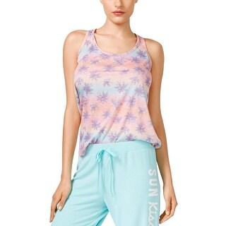 Jenni Womens Pajama Top Printed Racerback