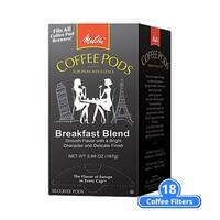 Melitta 75421 Breakfast Blend 18 Counts (Single Pack) Breakfast Blend Coffee Pods