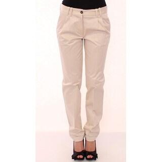 Dolce & Gabbana Dolce & Gabbana Beige Cotton Straight Casual Pants