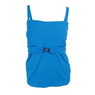 MICHAEL Michael Kors Women's Linked Bandini Swimsuit Top - summer blue