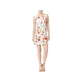 Kensie Womens Cocktail Dress Floral Print Lace
