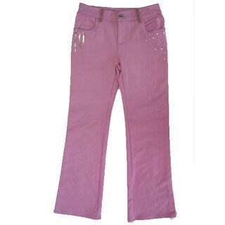 Disney Girls Pink Hannah Montana Sequin Rhinestud Adorned Pants
