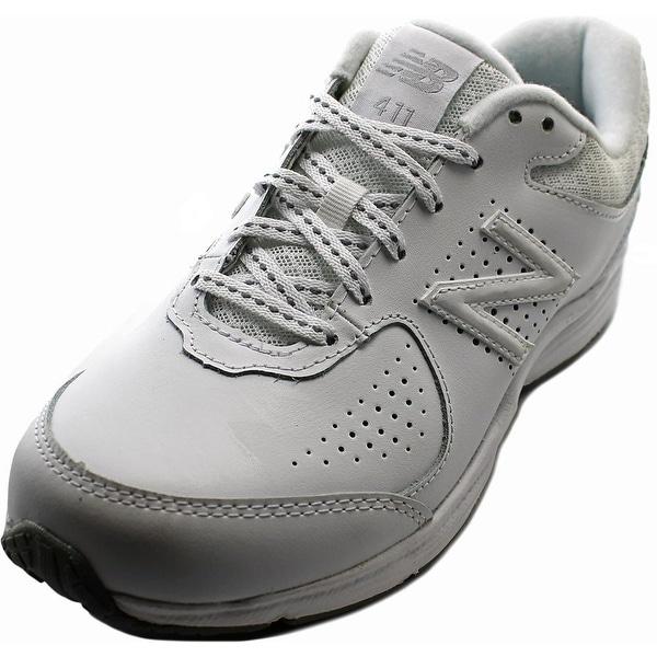 New Balance WW411 D Round Toe Leather Walking Shoe