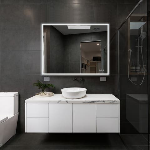 Fogless Color Temperature Adjustable LED Mirror