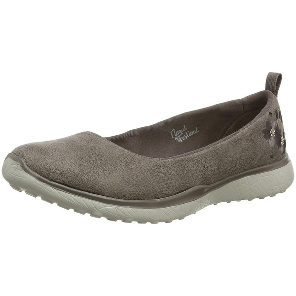 96bb4489d6ef Skechers Microburst Autumn Bloom Womens Slip On Skimmer Sneakers Dark Taupe