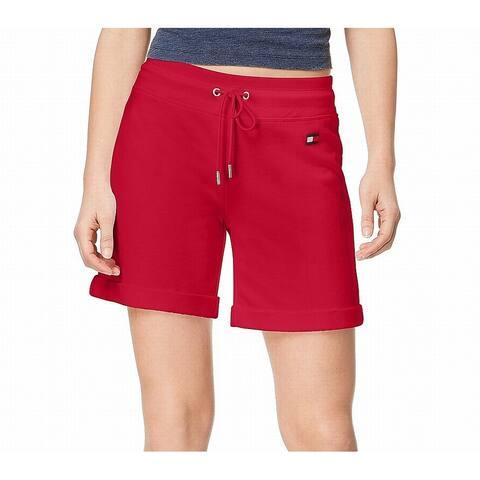 Tommy Hilfiger Women's Red Size Medium M Sport Drawstring Shorts