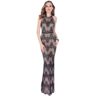 Terani Couture Lace Embellished Formal Dress