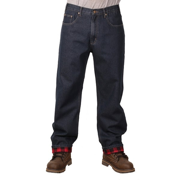 50a0bebde24 Shop Outback Rider Men's Flannel Lined Relaxed Fit Jeans - Free Shipping On  Orders Over $45 - Overstock - 14267829