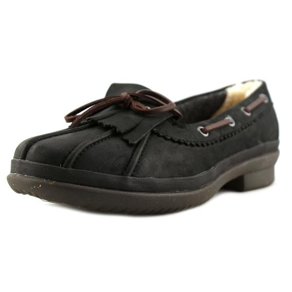 4b5dd4f6f8f Shop Ugg Australia Haylie N/S Moc Toe Leather Boat Shoe - Free ...