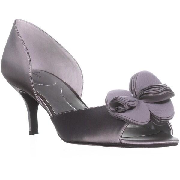 Bandolino Norcia Peep-Toe Stiletto Pumps, Light Grey/Light Grey