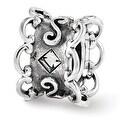 Sterling Silver Reflections Swarovski Bridal Garter Bead (4mm Diameter Hole) - Thumbnail 0