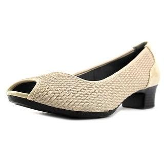 FootSmart Peggy Peep-Toe Synthetic Heels