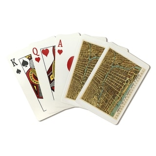 Chicago, Illinois - (1898) - Panoramic Map (Playing Card Deck - 52 Card Poker Size with Jokers)