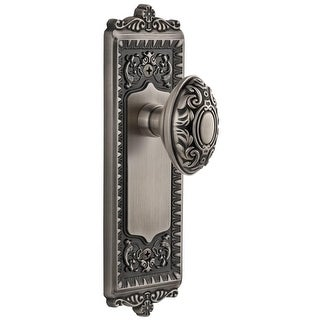 Grandeur WINGVC_SD_NA  Windsor Solid Brass Rose Single Dummy Door Knob with Grande Victorian Knob