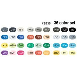 Basic - Copic Sketch Markers 36Pc Set