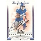 Plaxico Burress New York Giants 2006 Donruss Throwback Threads Autographed Card Awesome Autograph