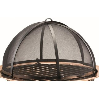 """30.5"""" Handcrafted Steel Mesh Spark Screen for Fire Pit"""