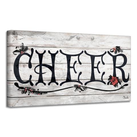 Ready2HangArt 'Cheer' Holiday Canvas Wall Art by Olivia Rose
