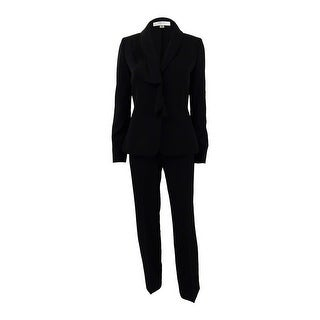 Tahari ASL Women's Plus Size Ruffled Pantsuit - Black