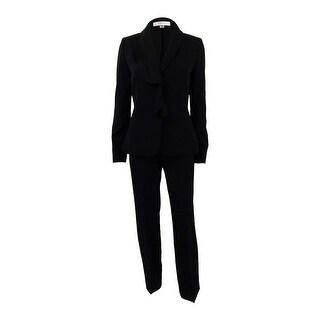 Tahari ASL Women's Ruffled Pantsuit - Black