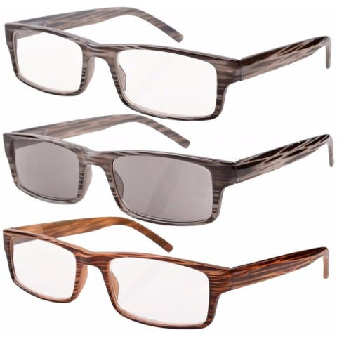 Eyekepper Reading Glasses Spring Hinge With Brown Striped Temples