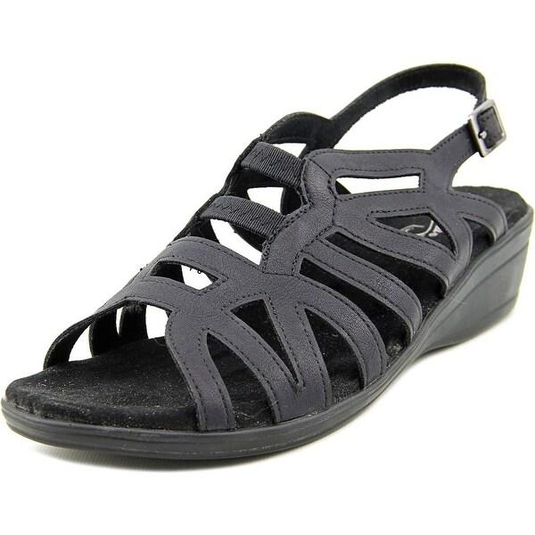 Easy Street Curly Women  Open-Toe Synthetic Black Slingback Sandal