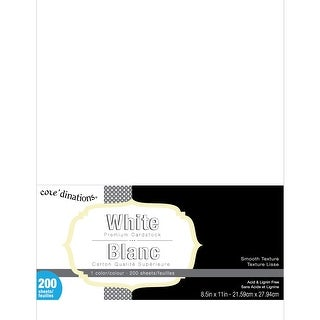 "Core'dinations Value Pack Smooth Cardstock 8.5""X11"" 200/Pkg-White"
