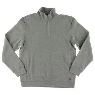 Izod Mens 1/4 Zip Pullover Long Sleeves Casual