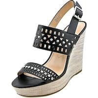 Charles By Charles David Aloof Women  Open Toe Leather Black Wedge Sandal