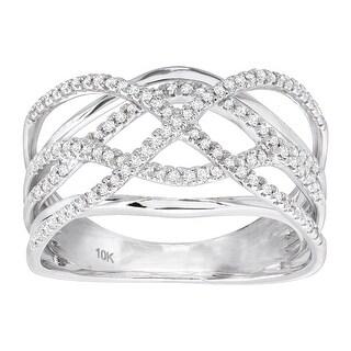 1/3 ct Diamond Ornate Band Ring in 10K White Gold