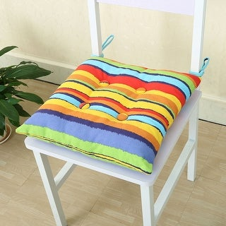 Square Tie Design Back Chair Pillow Cushion Pad