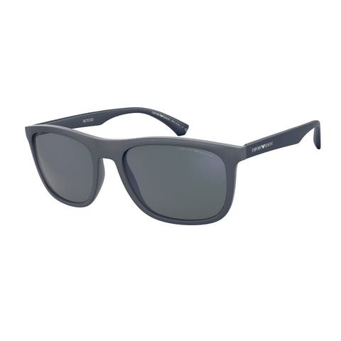 Emporio Armani EA4158 587125 57 Matte Blue Man Square Sunglasses