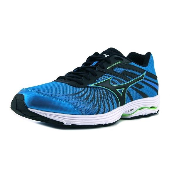 promo code ec024 c0dd1 Mizuno Wave Legend 4 Men Blue Black Green Running Shoes