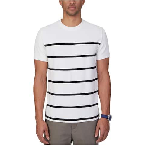 Nautica Mens Slim Fit Stripe Graphic T-Shirt
