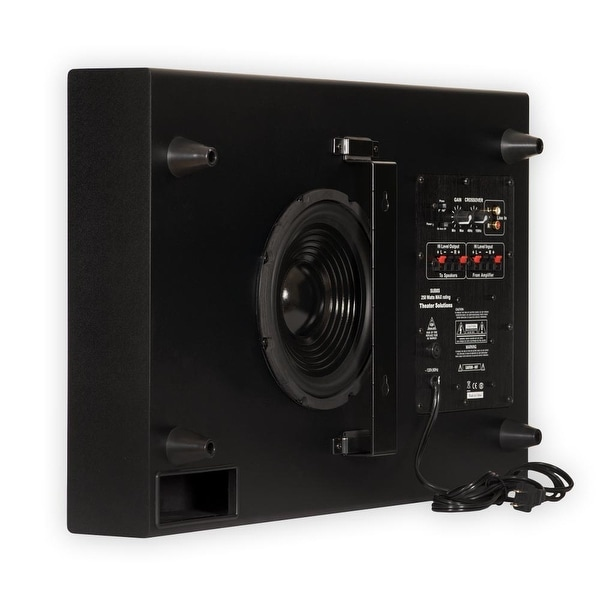 "Theater Solutions SUB8S Home Theater Powered 8"" Slim Subwoofer Mountable Sub"