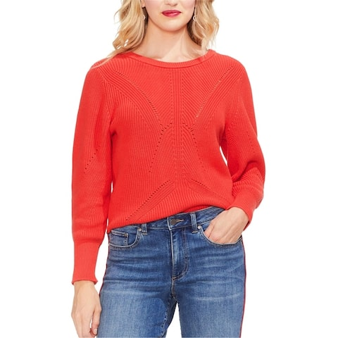 Vince Camuto Womens Laced Back Pullover Sweater