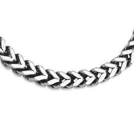 Stainless Steel Heavy Wheat 24in Necklace (10 mm) - 24 in