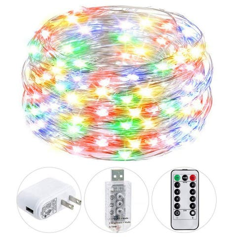 USB Twinkle Fairy Lights with Remote Adapter - Medium