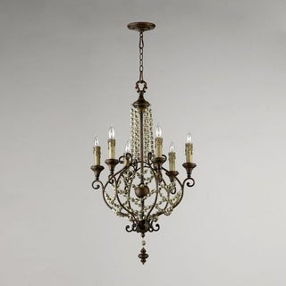 "Cyan Design 3011 38"" Meriel Six Light Chandelier from the Lighting Collection"