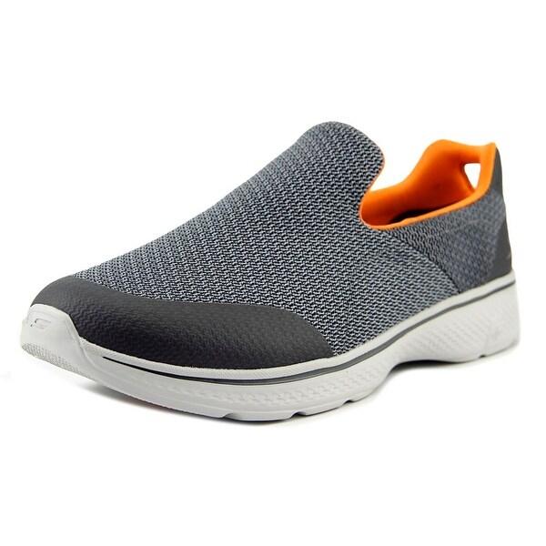 Skechers Go Walk 4 Expert Charcoal/Orange Sneakers Shoes