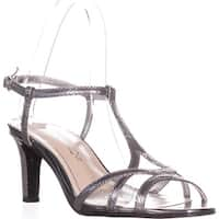 Caparros Bonita T-Strap Evening Sandals, Mercury Lizard