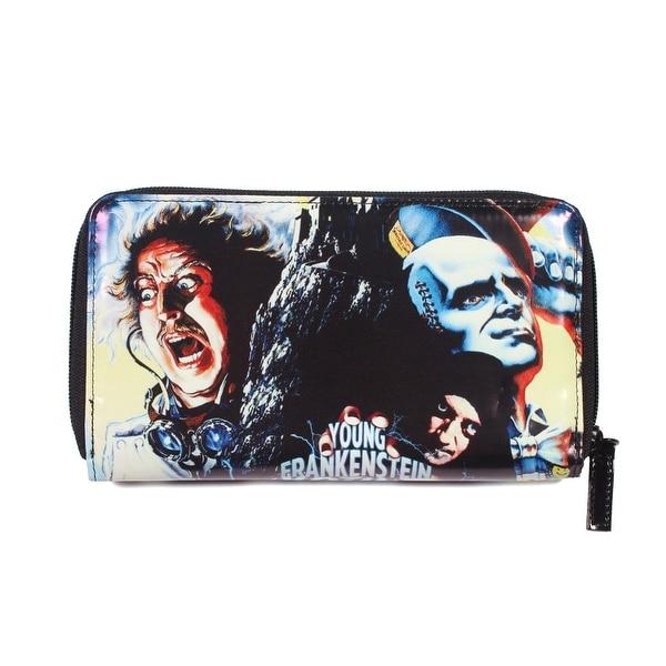 Rock Rebel Womens Young Frankenstein Zip Around Wallet - L
