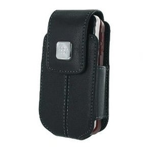 BlackBerry 8220 Leather Swivel Holster  Case (Black)