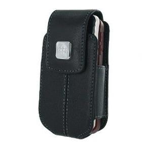 BlackBerry 8220 Leather Swivel Holster Case (Black)