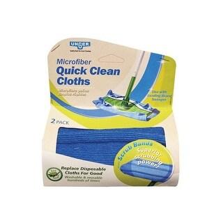 Unger 962990 Microfiber Quick & Clean Dust Cloths, 2 Pack