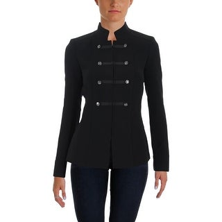 Tahari ASL Womens Blazer Stand-Collar Office