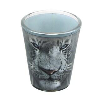 White Tiger Face 2oz Shot Glass