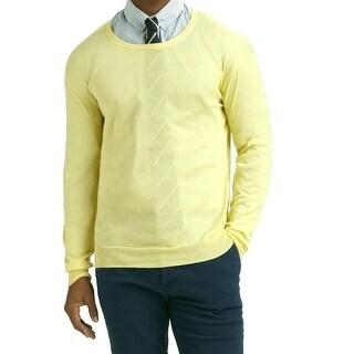 Gant NEW Soft Yellow Mens Size Large L Lightweight Crewneck Sweater