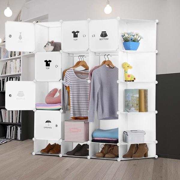 LANGRIA 12-Cube DIY Modular Shelving Storage Organizing Closet