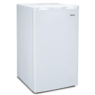 Della Compact Refrigerator and Freezer, 3.2 cu ft, Reversible Door, White